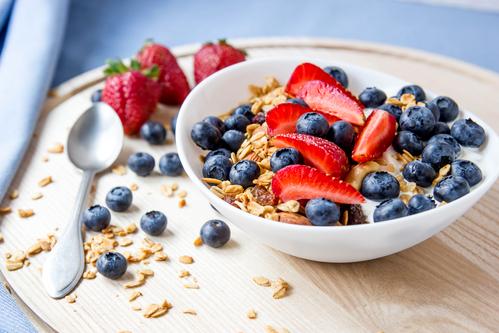 cukrovka, raňajky
